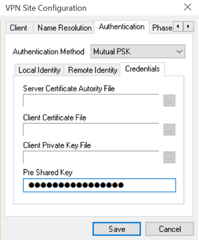 VPN SIte Configuration 7
