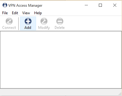 Oberfläche VPN Access Manager