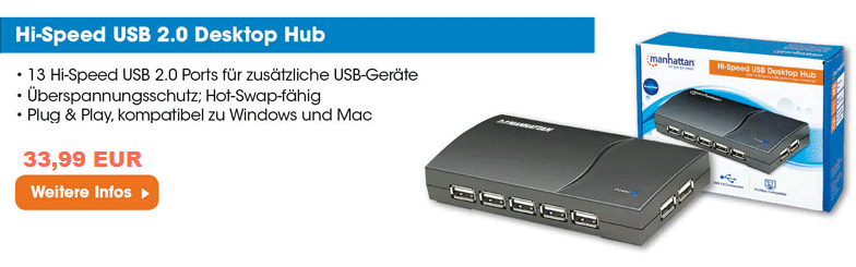 Highspeed Desktop USB 2.0 Hub