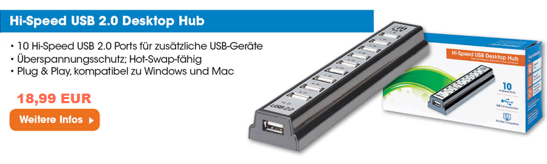 Highspeed USB 2.0 Hub